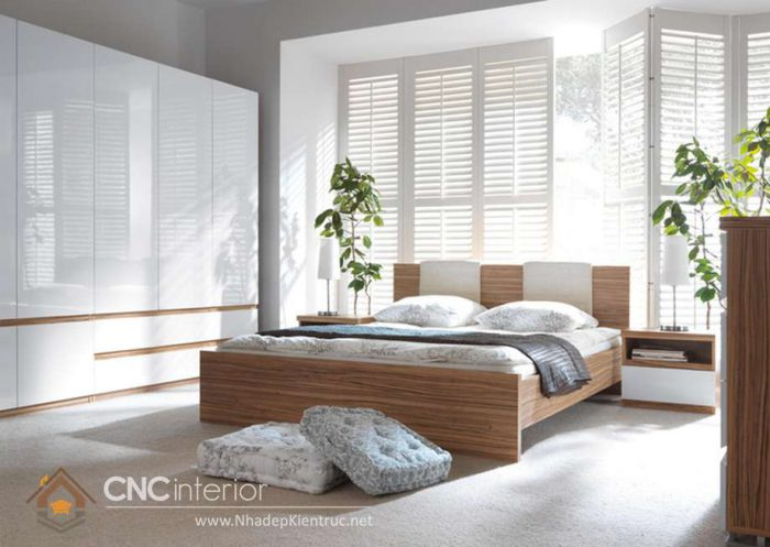 mẫu giường ngủ gỗ đẹp 22