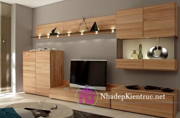 Thiết kế mẫu kệ tivi trong phòng ngủ