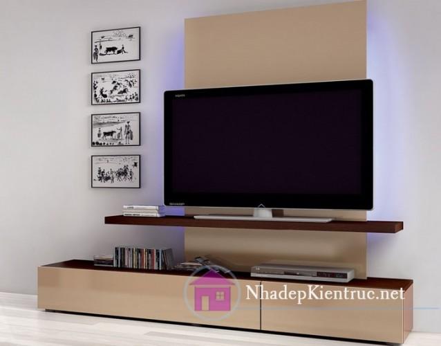 Thiết kế kệ tivi trong phòng ngủ