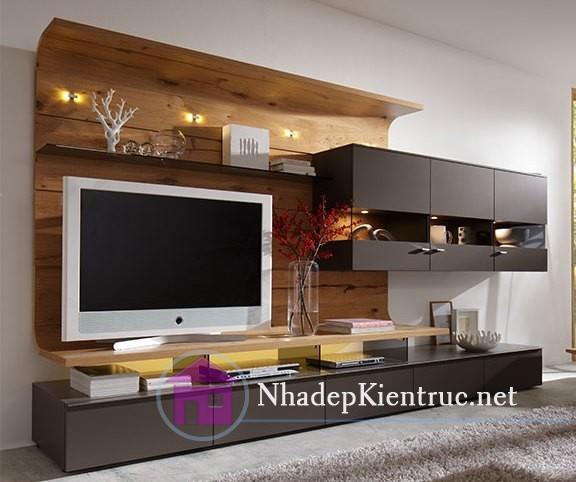 Thiết kế mẫu kệ tivi trong phòng ngủ.