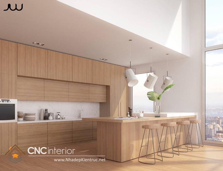 MẪU TỦ BẾP GỖ ĐẸP CNC-H 31