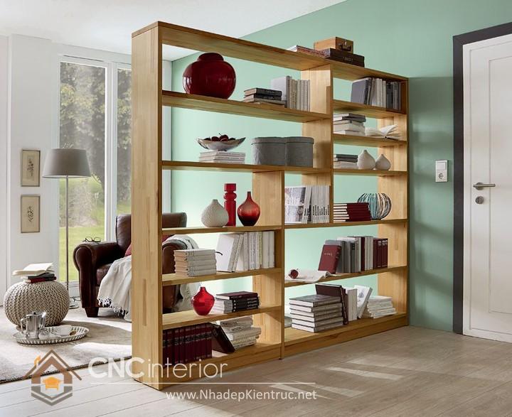 Mẫu kệ gỗ trang trí phòng khách 52