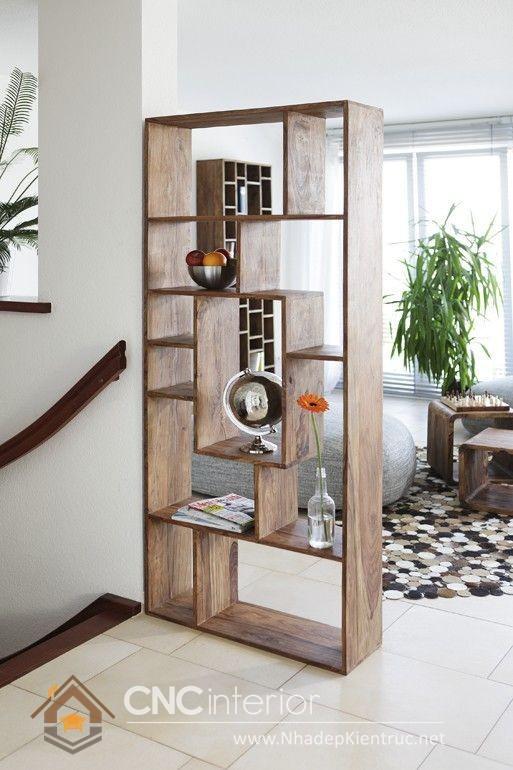 Mẫu kệ gỗ trang trí phòng khách 59