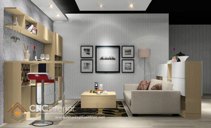 Tủ phòng khách hiện đại