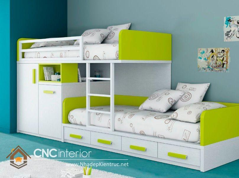 MẪU GIƯỜNG HAI TẦNG TRẺ EM CNC-H 16