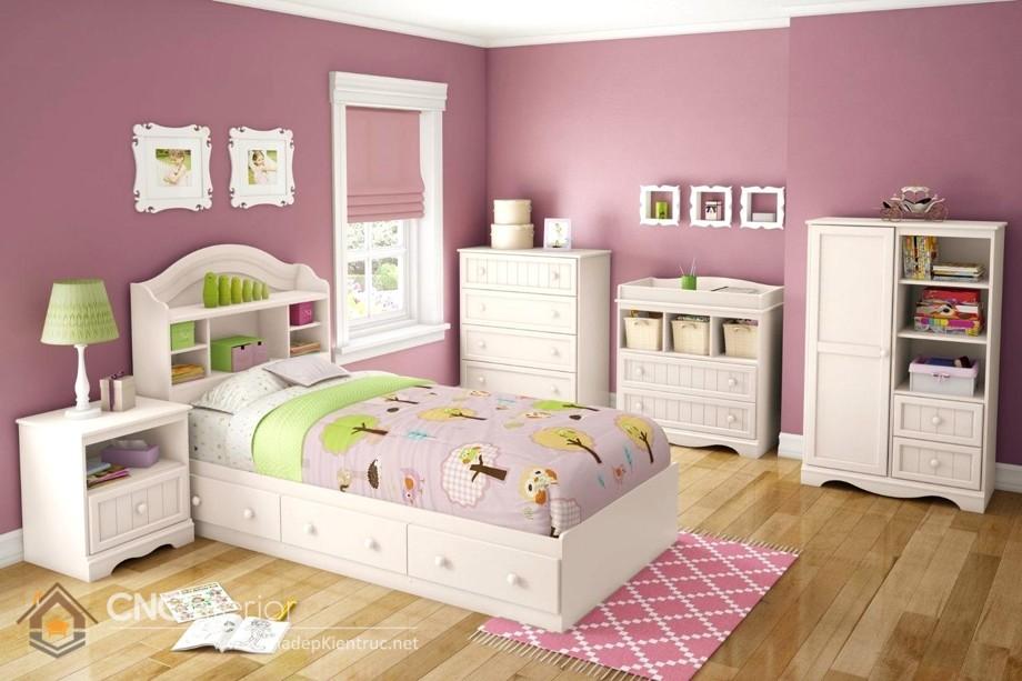 giường ngủ cho bé gái H30