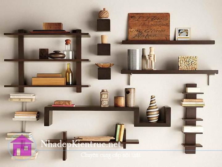mẫu giá sách treo tường