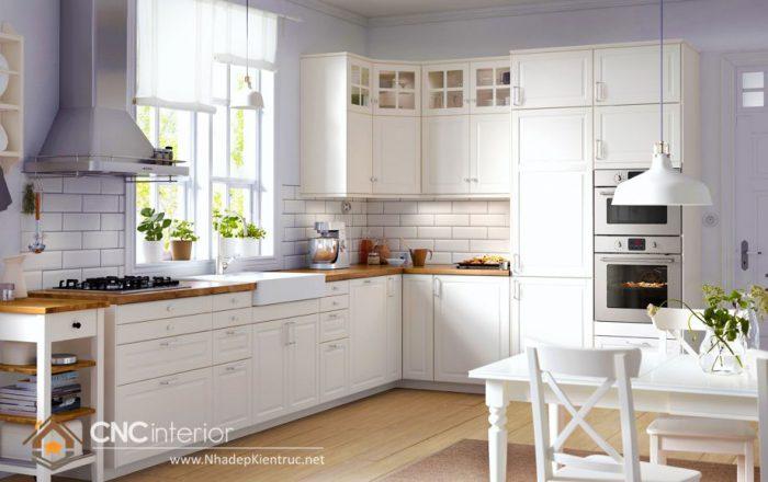 mẫu tủ bếp gỗ đẹp 33