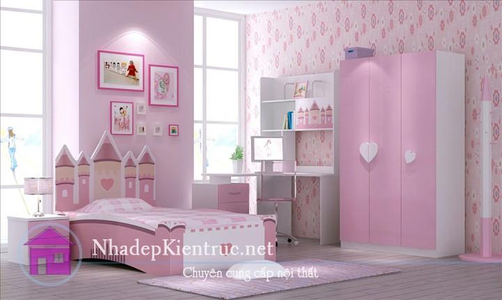 trang trí phòng ngủ màu hồng