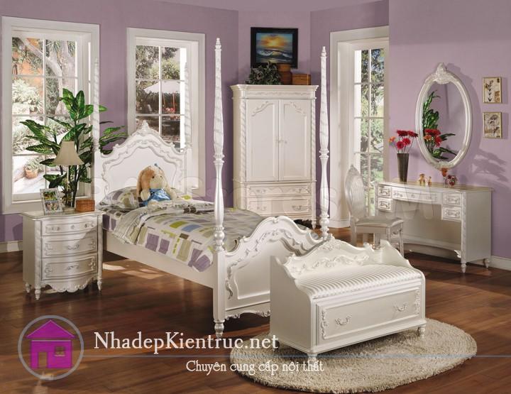 mẫu giường gỗ đẹp 3