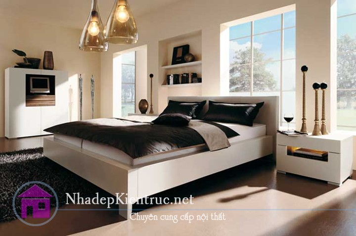 mẫu giường gỗ đẹp 5