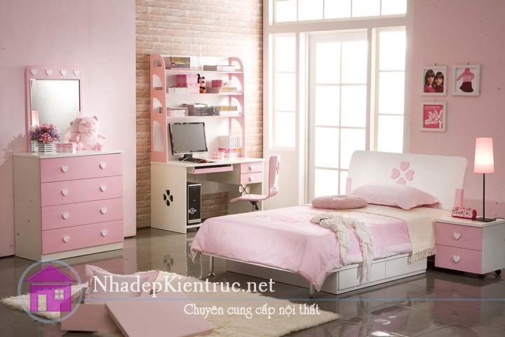 nội thất phòng ngủ bé gái 01