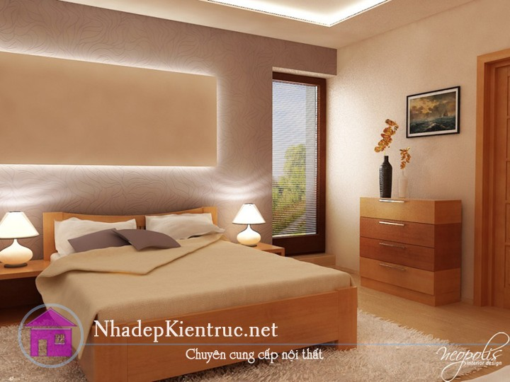 mẫu giường gỗ đẹp 1