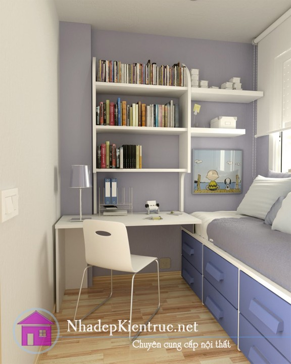 Cách trang trí phòng ngủ nhỏ đơn giản