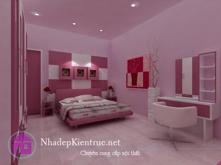 trang trí phòng ngủ màu hồng 1