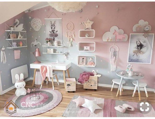 trang trí phòng ngủ màu hồng 9