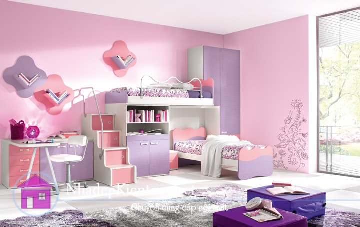 cách trang trí phòng ngủ cho bé gái
