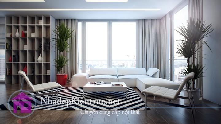 thiết kế phòng khách đơn giản 4