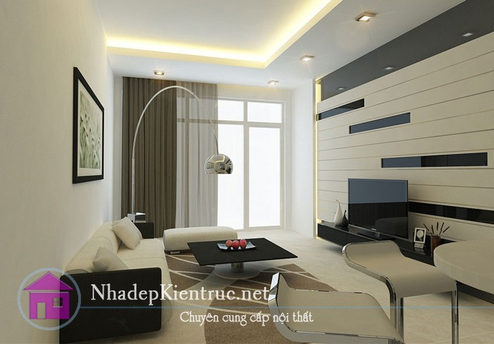 thiết kế phòng khách nhà ống đẹp 4