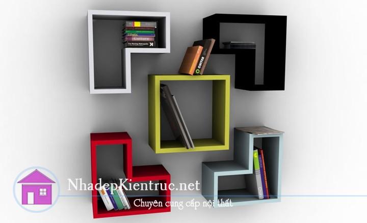 kệ sách treo tường đẹp