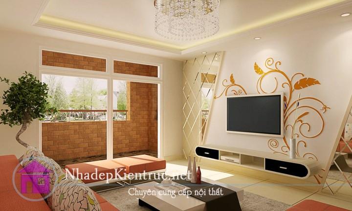 thiết kế phòng khách đơn giản 5