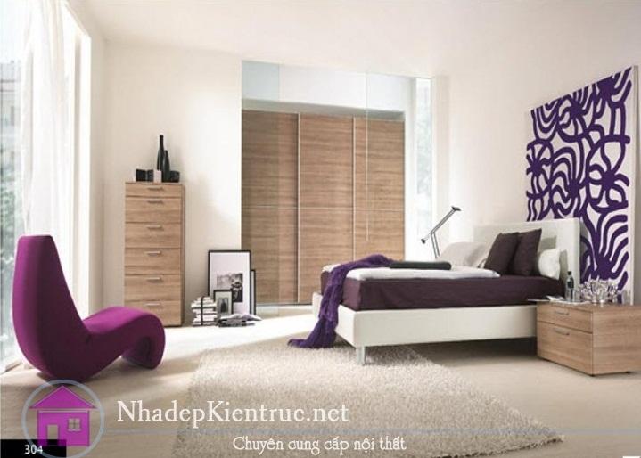 thiết kế nội thất phòng ngủ hiện đại 01
