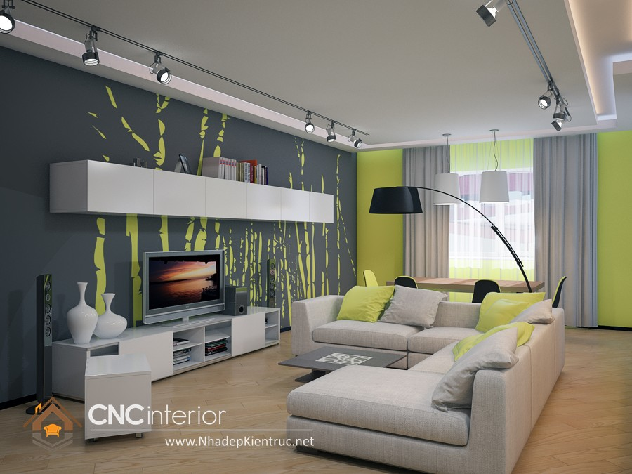 thiết kế phòng khách hiện đại (6)