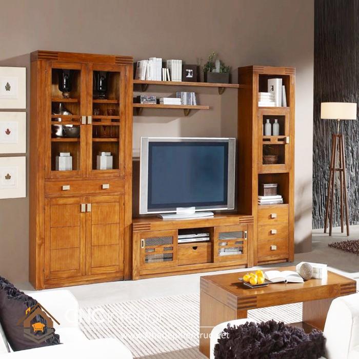 Tủ tường gỗ phòng khách