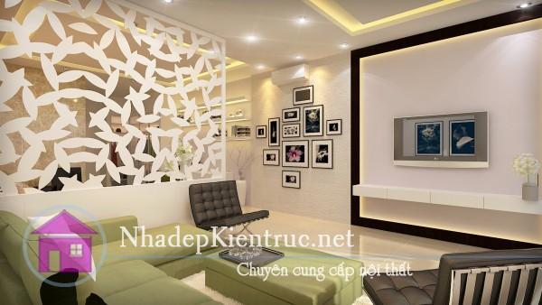 thiết kế phòng khách chung cư 2