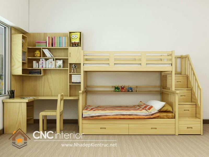 mẫu giường tầng đa năng cho bé
