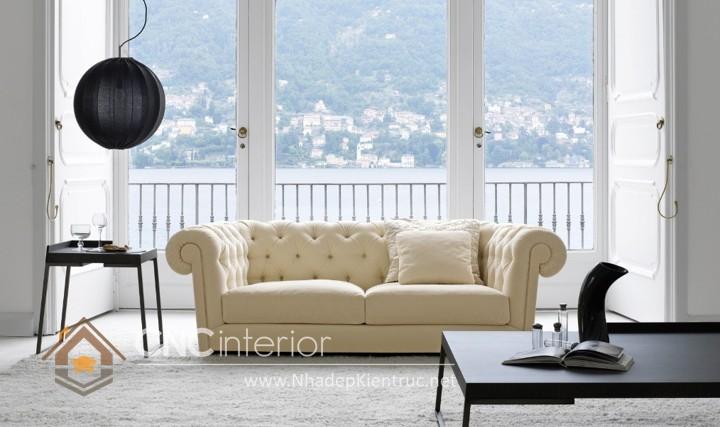 Bộ ghế sofa phòng khách đẹp CNC – H11