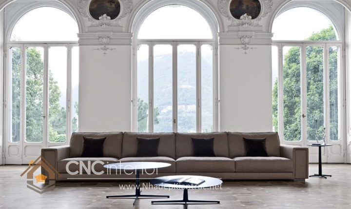 Bộ ghế sofa phòng khách đẹp CNC – H13