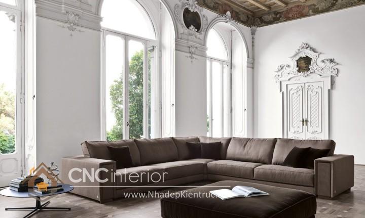 Bộ ghế sofa phòng khách đẹp CNC – H14