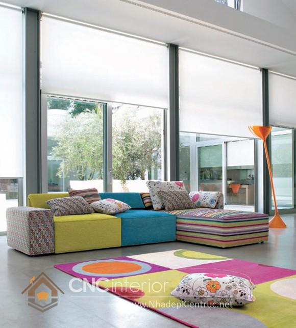 Bộ ghế sofa phòng khách đẹp CNC – H18