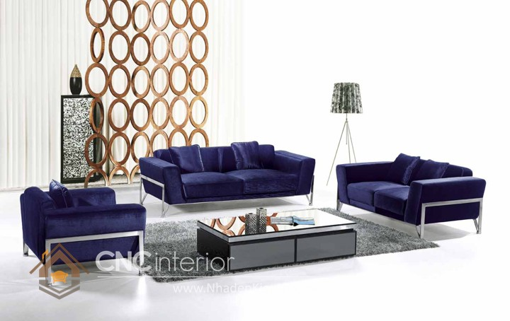 Bộ ghế sofa phòng khách đẹp CNC – H19