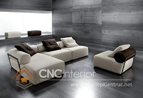 Bộ ghế sofa phòng khách đẹp CNC – H23