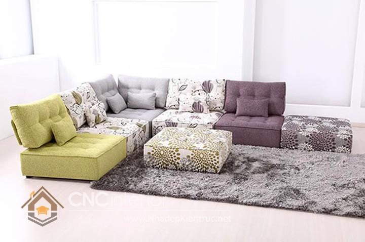 Bộ ghế sofa phòng khách đẹp CNC – H27