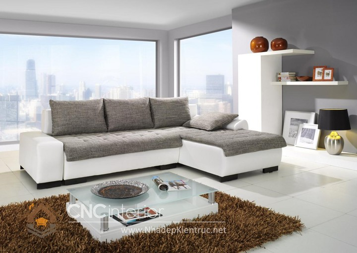 Bộ ghế sofa phòng khách đẹp CNC – H32