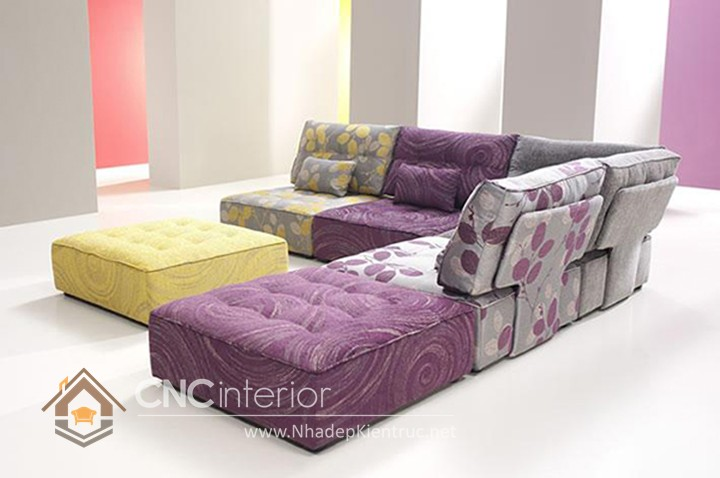 Bộ ghế sofa phòng khách đẹp CNC – H38