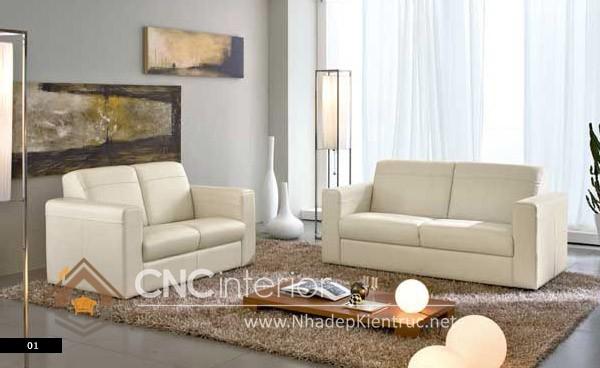 Bộ ghế sofa phòng khách đẹp CNC – H39