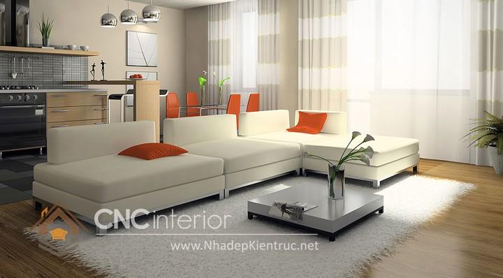 Bộ ghế sofa phòng khách đẹp CNC – H43