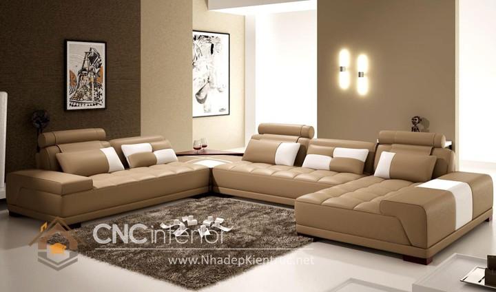 Bộ ghế sofa phòng khách đẹp CNC – H49