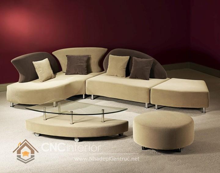 Bộ ghế sofa phòng khách đẹp CNC – H09
