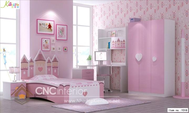 Giường ngủ kiểu công chúa CNC – H16
