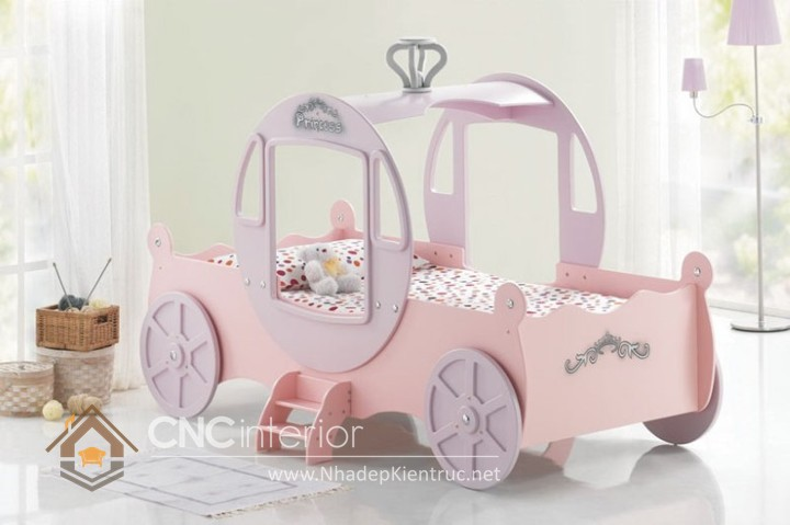 Giường ngủ kiểu công chúa CNC – H18