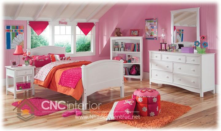 Giường ngủ kiểu công chúa CNC – H24