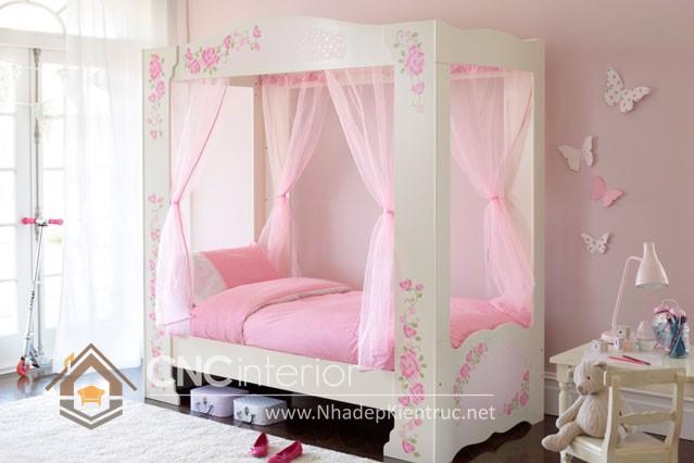 Giường ngủ kiểu công chúa CNC – H33