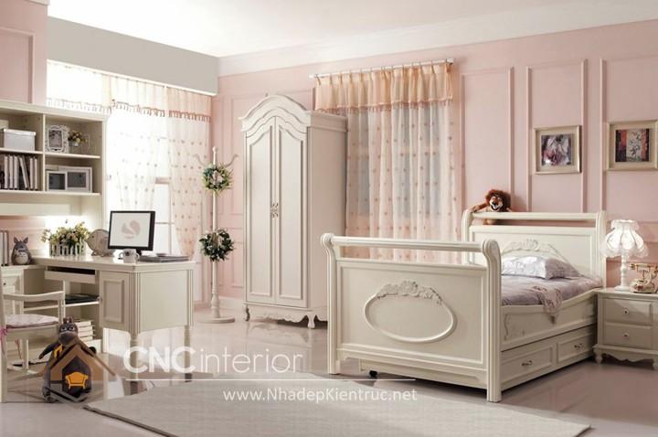 Giường ngủ kiểu công chúa CNC – H08