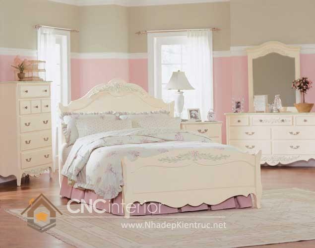 Giường ngủ kiểu công chúa CNC – H09