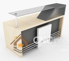 Thiết kế quầy tiếp tân đẹp CNC – H10